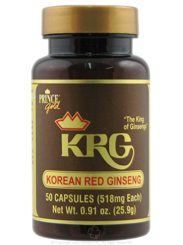 Korean Red Ginseng 500mg, 50 caps, Prince of Peace