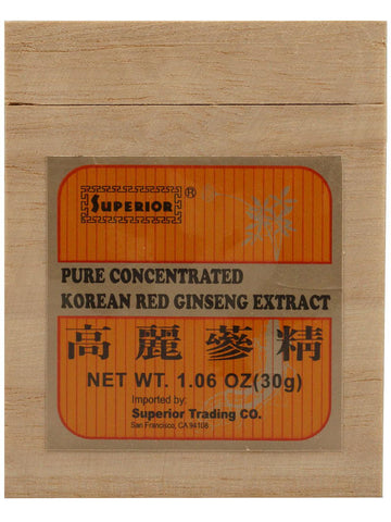 Korean Red Ginseng Extract Jar, 30 grams, Superior Trading
