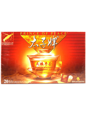 American Ginseng Root Tea, 20 teabags, Prince of Peace