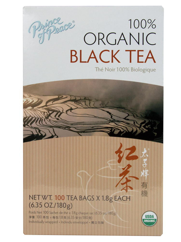 Organic Black Tea, 100 teabags, Prince of Peace