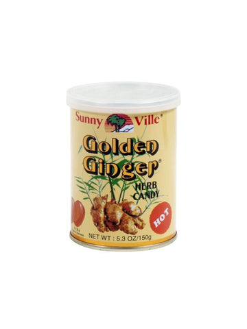 Golden Ginger Hard Candy, 5.3 oz, Sunny Ville Brand
