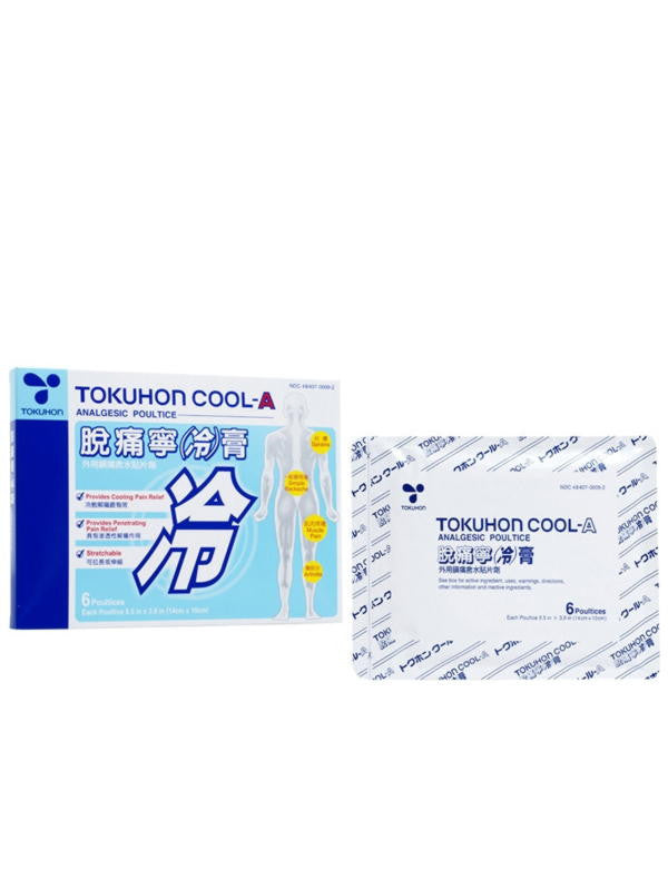 Tokuhon Cool-A, Analgesic Poultice, 6 poultices, Tokuhon Brand