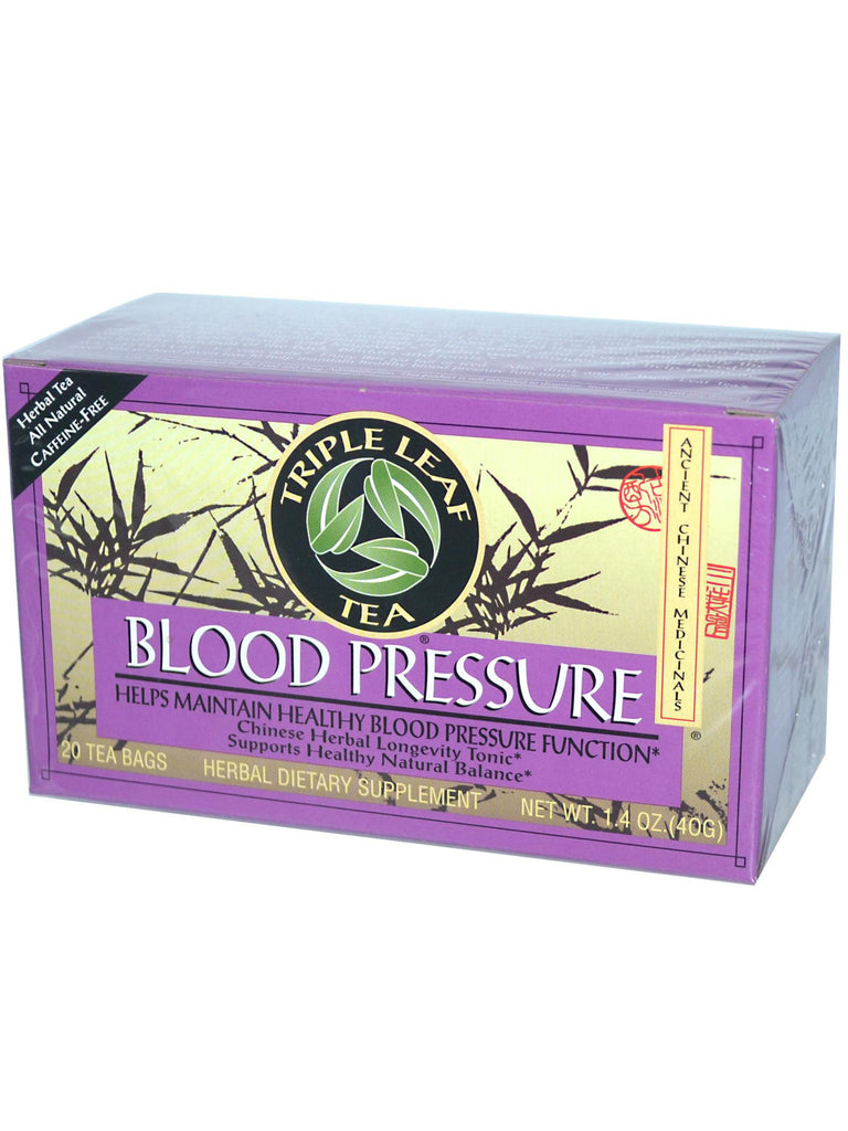 Blood Pressure Herbal Tea, 20 tea bags, Triple Leaf Tea