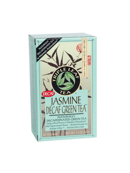 Jasmine Decaf Green Tea, 20 tea bags, Triple Leaf Tea