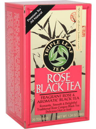 Rose Black Tea, 20 teabags, Triple Leaf Tea