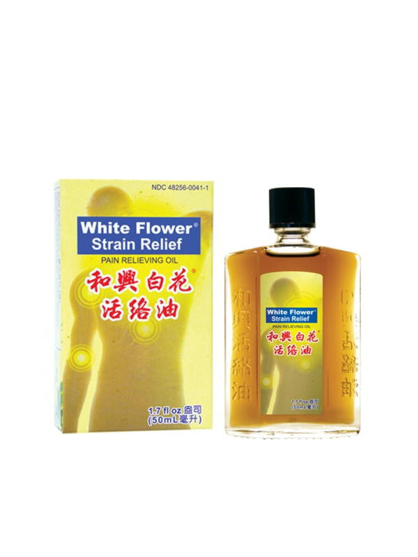White Flower Strain Relief Pain Relieving Oil, 50 ml, White Flower