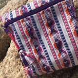 Fish pattern Small pouch with fine weave made in Oaxaca ethically