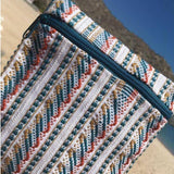 Wave pattern Small pouch with fine weave made in Oaxaca ethically
