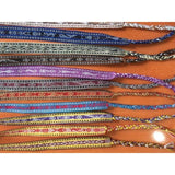 Colorful miniature weave bracelets handmade in Oaxaca