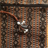 Brown Small pouch with fine weave made in Mexico ethically