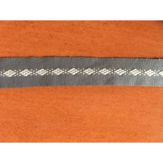 Grey miniature weave ankle bracelet made in Oaxaca ethically