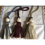Zipper pulls/key holders with dolls hand made in Oaxaca