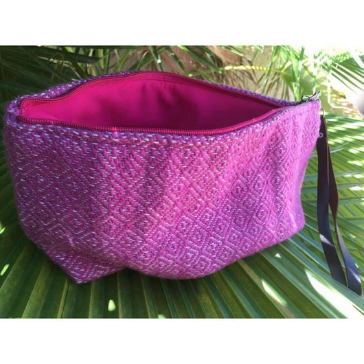 Large wool pouch/clutch handmade in Oaxaca