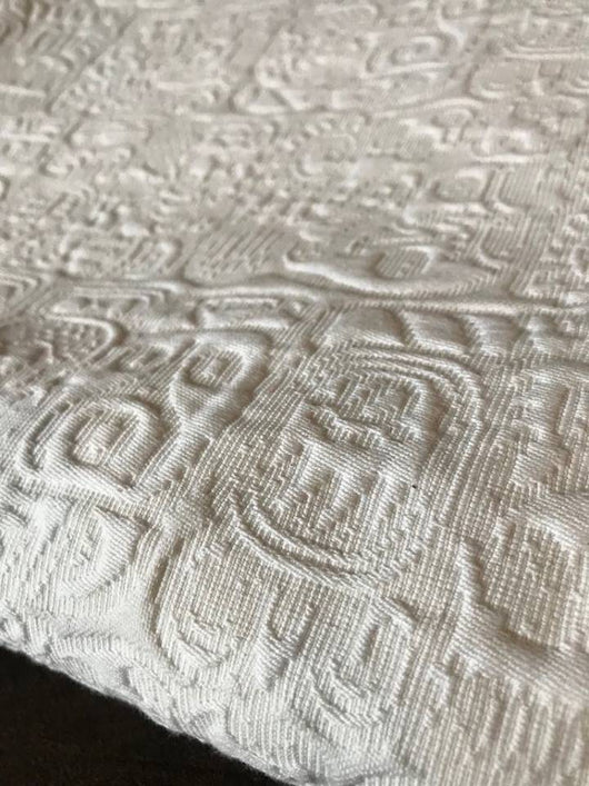 Organic cotton king/queen bedspread made in Oaxaca