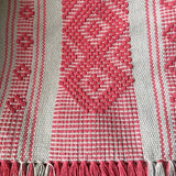 "Cotton table runners short 1.65 m (65"") ethically handmade in Oaxaca. 12 colors"