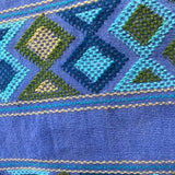 Stunning light blue shoulder bag hand woven for Pazeña in Mexico