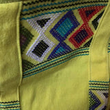 Stunning canari yellow shoulder bag hand woven for Pazeña in Mexico