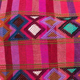 Stunning pink stripes shoulder bag hand woven for Pazeña in Mexico