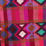 Large pink stripes womens' wallet with Zapotec Rombo design ethically handmade in Chiapas - pazeña