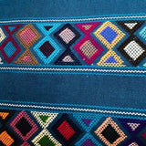 Stunning teal shoulder bag hand woven for Pazeña in Mexico