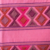 Stunning pink shoulder bag hand woven for Pazeña in Mexico