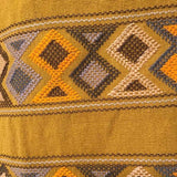 Stunning mustard shoulder bag hand woven for Pazeña in Mexico