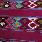 Stunning wine shoulder bag hand woven for Pazeña in Mexico