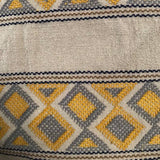 Large pale yellow womens' wallet with Zapotec Rombo design ethically handmade in Chiapas - pazeña