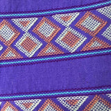 Stunning violet shoulder bag hand woven for Pazeña in Mexico