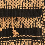 Black and camel mini backpack and coin pouch hand woven in Oaxaca