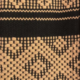 Black and camel coin pouch hand woven in Oaxaca fair trade