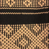Black and camel travel pouch hand woven in Oaxaca ethically