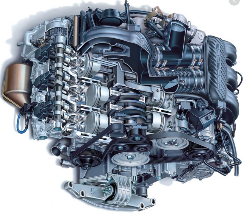 Porsche Boxster engine & engine parts