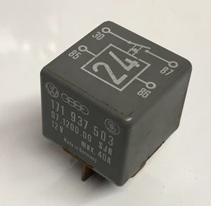 Porsche 924/944 relay. Various uses. 171937503. 171 937 503. ((LB184)) - Woolies Workshop - Porsche 924 944 spares