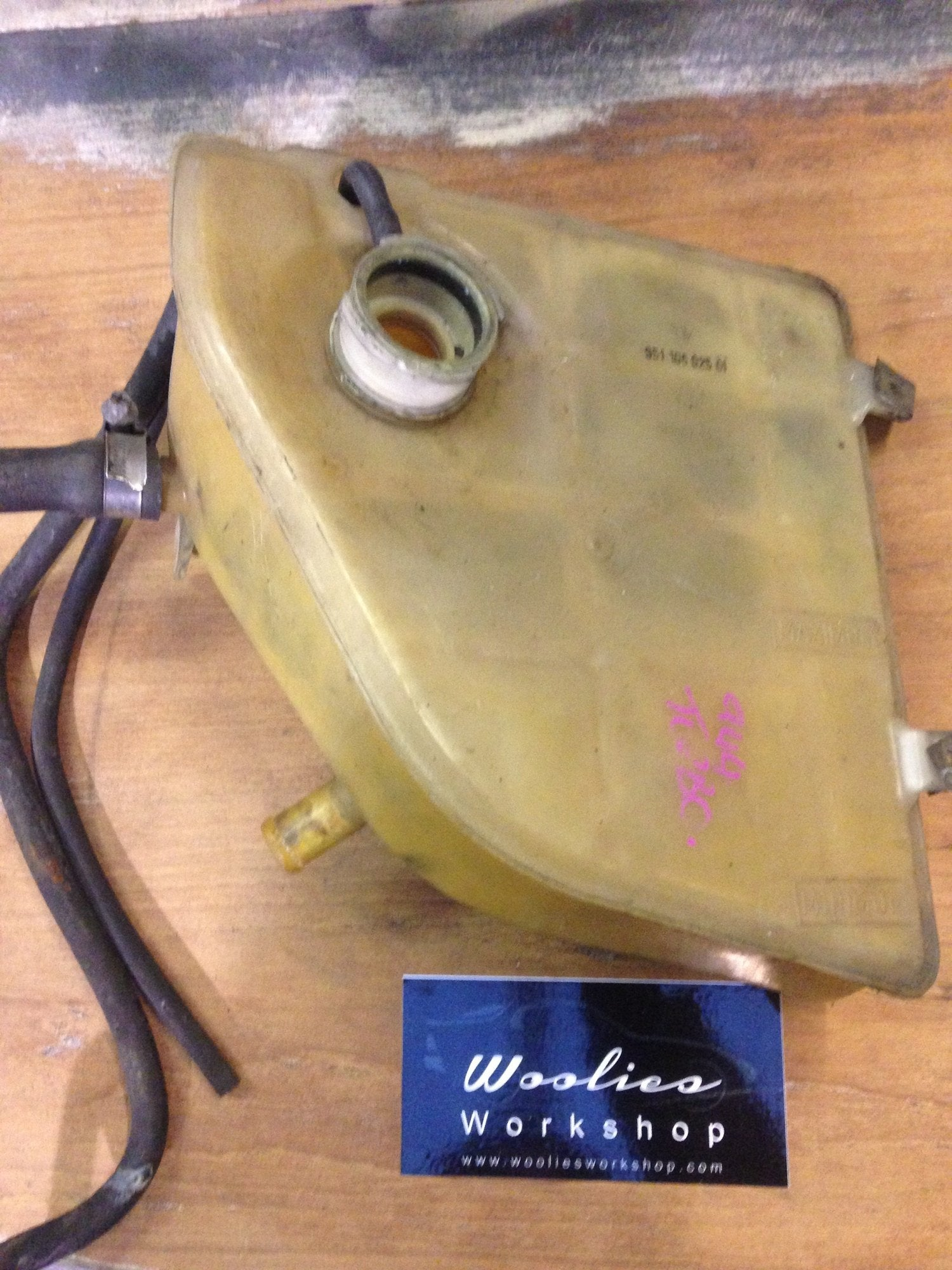 Porsche 944 turbo expansion tank, coolant tank, 951.106.025.01 - Woolies Workshop - Porsche 924 944 spares
