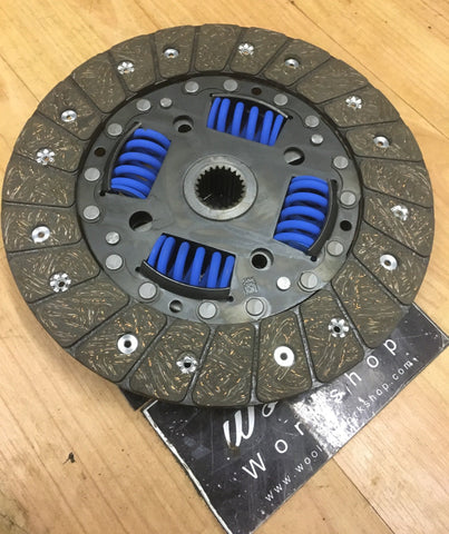Porsche 924s 944 2.5 clutch friction plate NEW refurbished ((GREEN 10)) - Woolies Workshop - Porsche spares