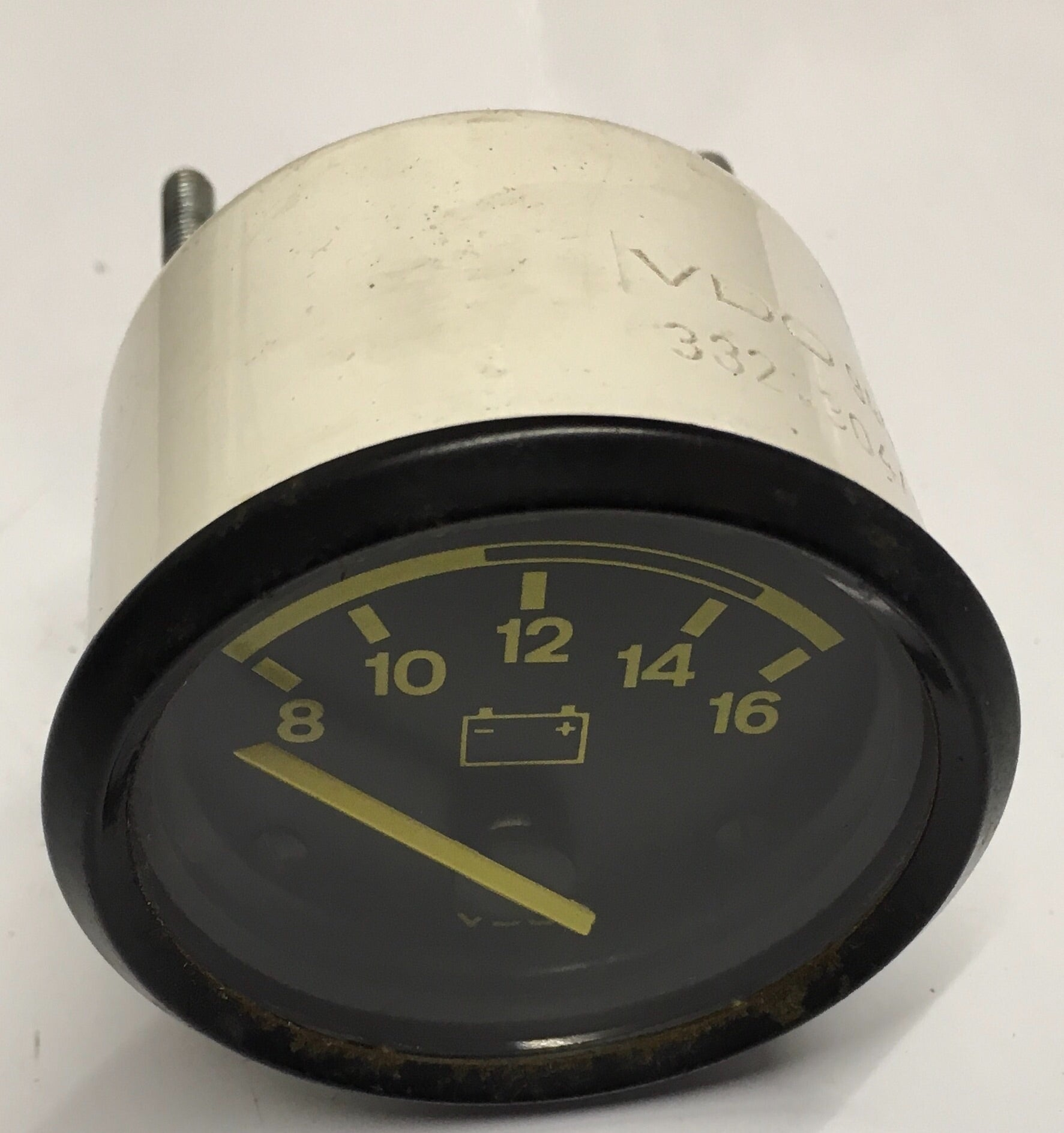 Porsche 924 944 voltmeter with yellow numbers. 94464111900. 944 641 119 00(( ref green 4)) - Woolies Workshop - Porsche 924 944 spares