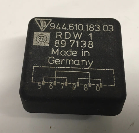 Porsche 944 Bridge Adapter relay, 94461018303. 944 610 183 03 ((Ref Green1))