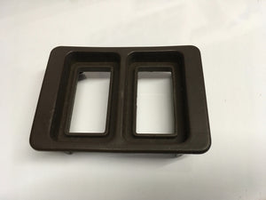 Porsche 944/924 Electric window switch surround double BROWN. 477867187a. ((Ref LB6a)) - Porsche Spares UK Ltd