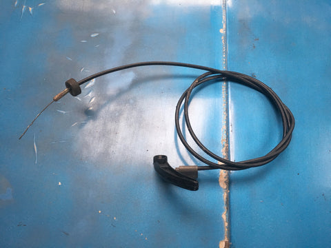 Porsche 924 / 944 bonnet release cable (late with plastic handle) 944 511 037 00 1984 onwards ((B11)) - Woolies Workshop - Porsche spares