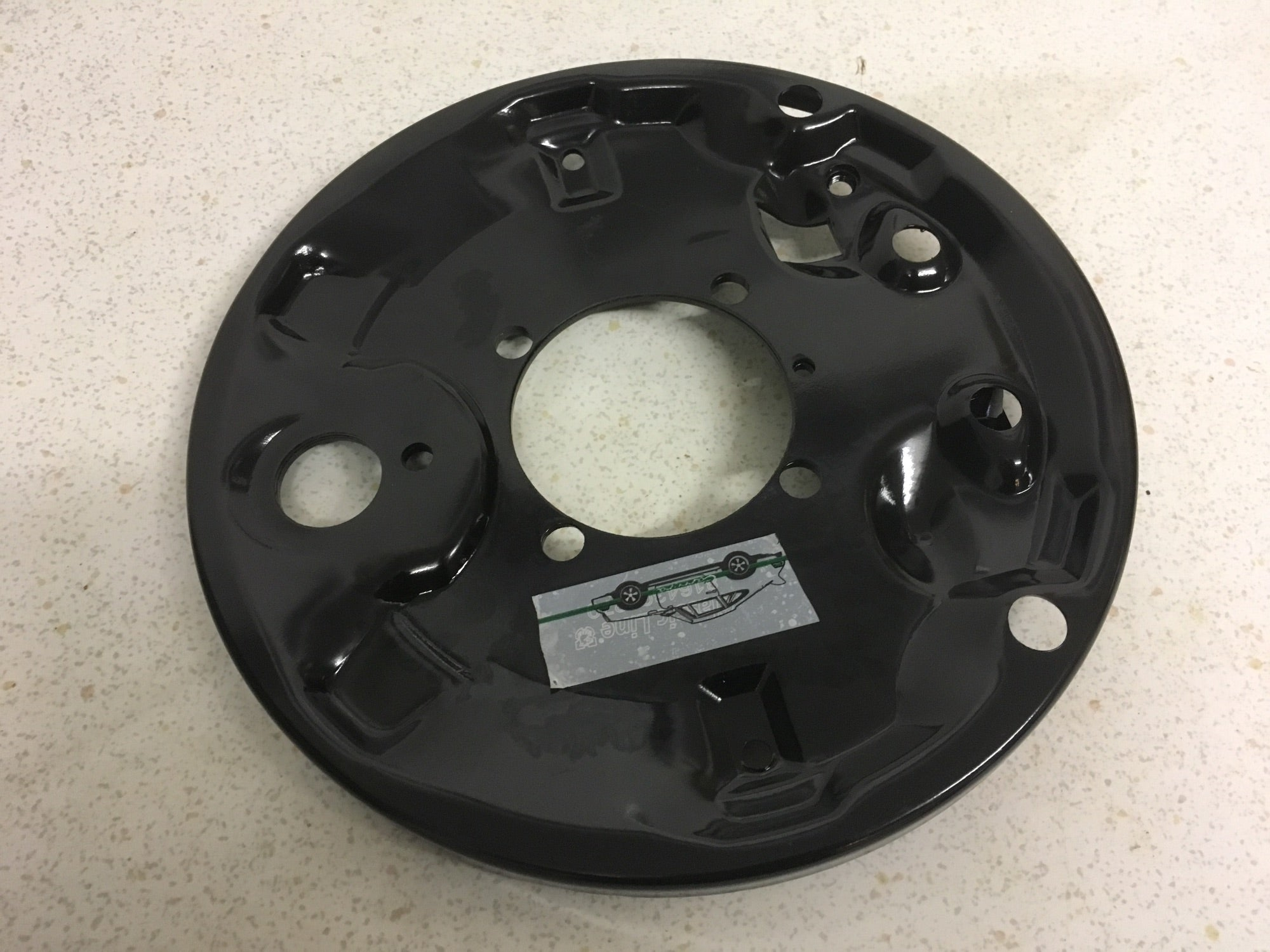 Porsche 924 rear brake backing plate (4 stud 2.0 car) LEFT 113 609 439 Bay 22 Shelf B - Woolies Workshop - Porsche 924 944 spares