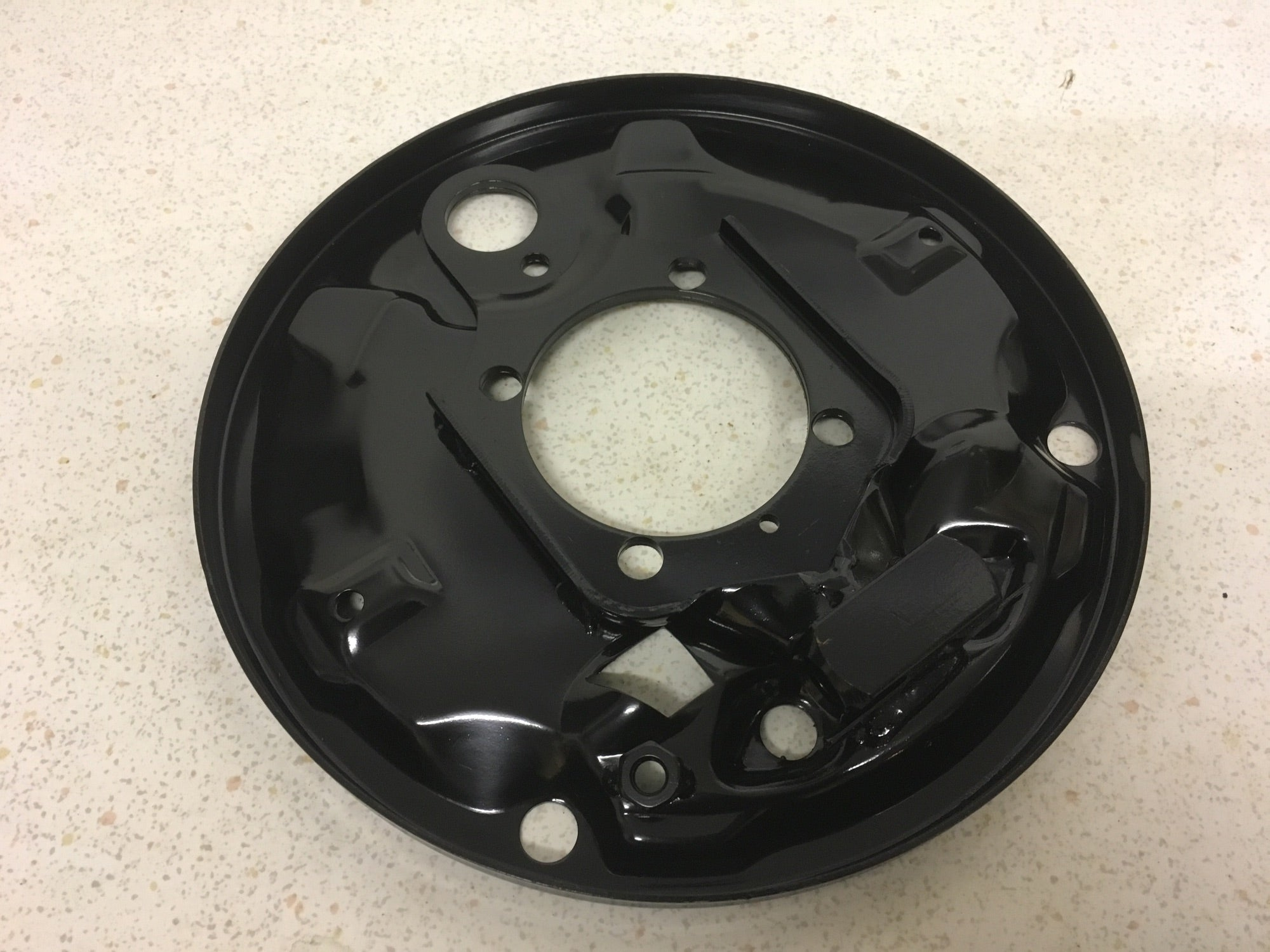 Porsche 924 rear brake backing plate (4 stud 2.0 car only) RIGHT 113 609 440 - Woolies Workshop - Porsche 924 944 spares