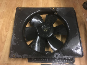 Porsche 944 cooling radiator fan and surround 944 106 141 02 (6 blade) ((C1)) - Woolies Workshop - Porsche 924 944 spares