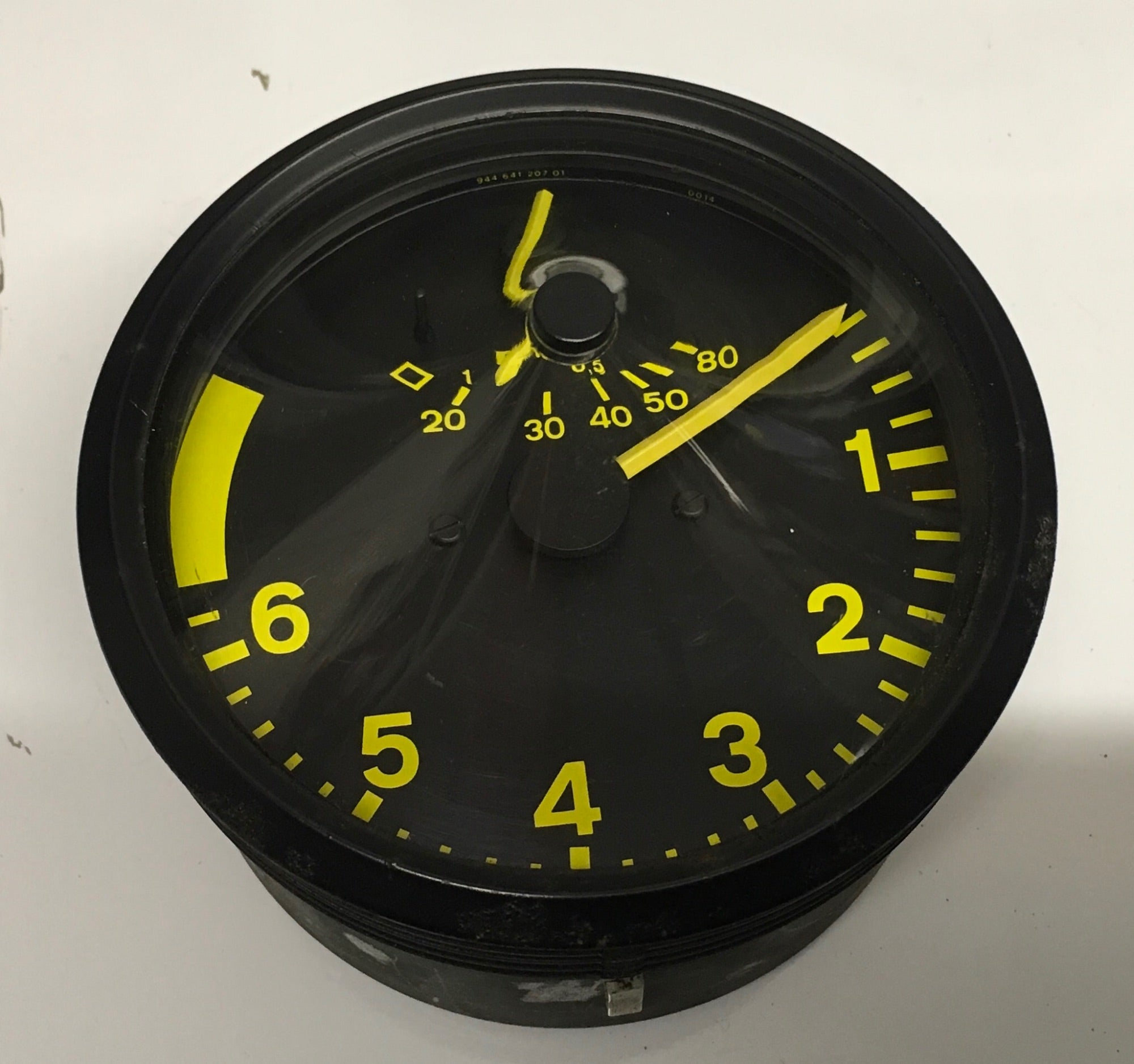 Porsche 944 early rev counter tacho yellow 944 641 207 01 with MPG. ((Ref green 4)) - Woolies Workshop - Porsche 924 944 spares
