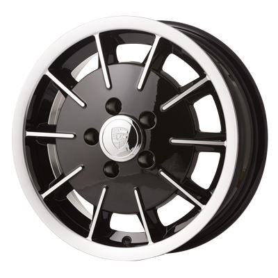 "Porsche Gas Burner style alloy wheel. 15"" 5.5"" 5x130, 45mm off set."