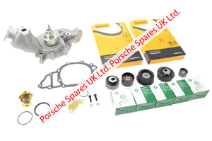 Porsche 944 S2 / 968 16v 3.0 Water pump + timing belt and tensioner kit - Porsche Spares UK Ltd