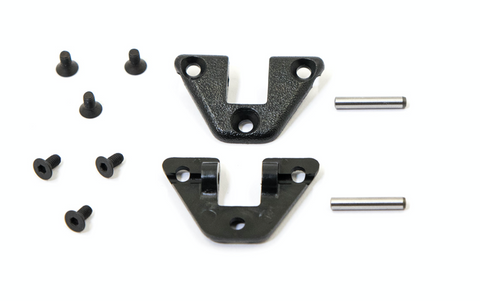 Porsche 924 944 968 sunroof clamp lever hinge retaining bracket mount 477 871 219 KIT includes screws and lever pin - Woolies Workshop - Porsche 924 944 spares