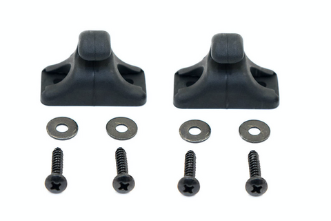 PORSCHE 924 944 968 SUN VISOR CLIPS GENUINE 944 731 439 00 KIT inc screws - Porsche Spares UK Ltd