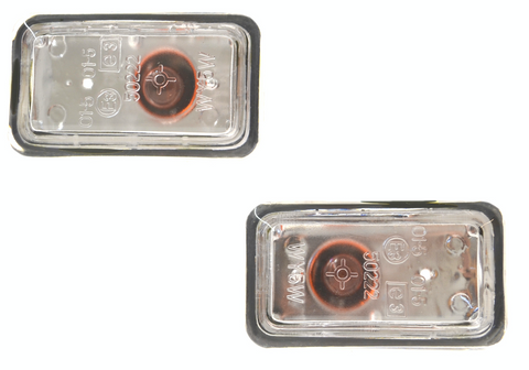 Porsche 924/944 clear side / wing indicator repeaters (pair) ((LB268)) - Woolies Workshop - Porsche 924 944 spares