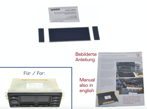 Porsche 986 Boxster Display repair kit for climate control unit V2 From June 2002 onwards - Woolies Workshop - Porsche 924 944 spares